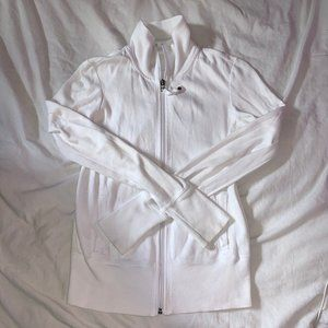 white garage brand zip up